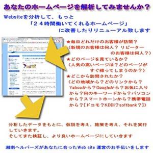 ウェブサイトのアクセス解析